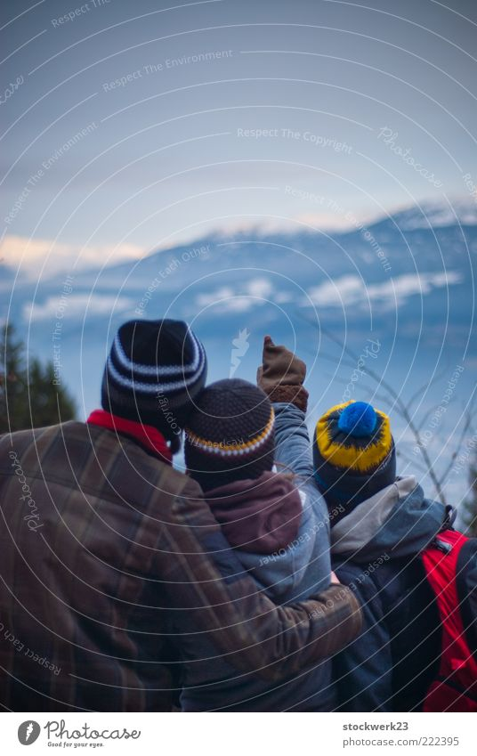 Human being Youth (Young adults) Winter Adults Far-off places Landscape Mountain Freedom Family & Relations Horizon Ice Hiking Masculine Trip Adventure Frost