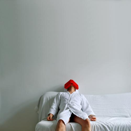 Human being White Red Relaxation Dream Book Sit Sleep Reading Sofa Blanket Furniture Sauna Folds Literature Banal