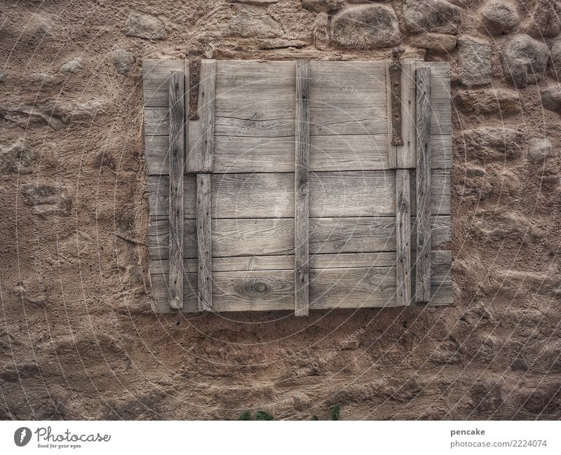 Dark Wall (building) Wall (barrier) Closed Mysterious Old town Wooden board Creepy Hatch Alsace Cellar window