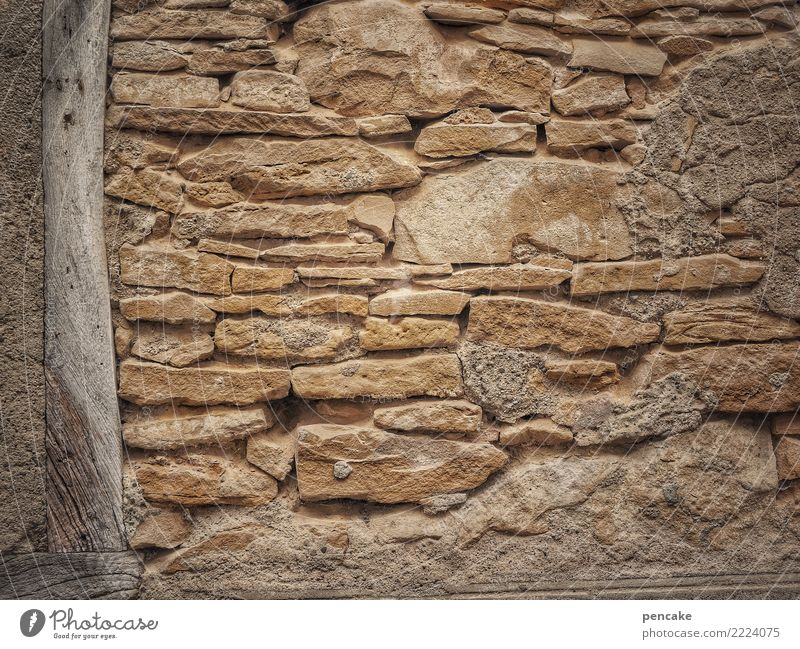 texture | left justified Old town House (Residential Structure) Wall (barrier) Wall (building) Stone Wood Historic Half-timbered facade Building stone Alsace