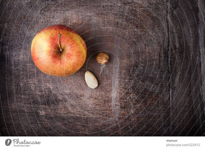 Apple, nut and almond kernel... Food Fruit Nut Almond Nutrition Organic produce Vegetarian diet Healthy Delicious Anticipation Expectation Colour photo