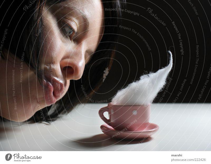 Woman Human being Face Feminine Adults Pink Food Beverage Sweet Smoke Crockery Blow Cup Brunette Nutrition Espresso