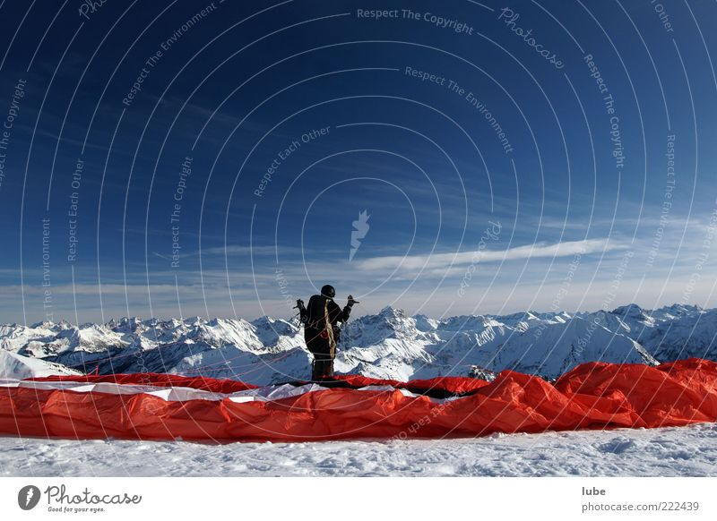 Nature Vacation & Travel Winter Far-off places Snow Mountain Freedom Landscape Flying Adventure Tourism Leisure and hobbies Alps Cloth Peak Brave