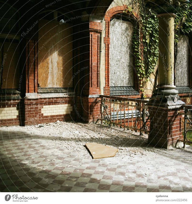 Calm House (Residential Structure) Loneliness Window Dream Architecture Going Time Facade Closed Lifestyle Change Transience Derelict Mysterious Tile