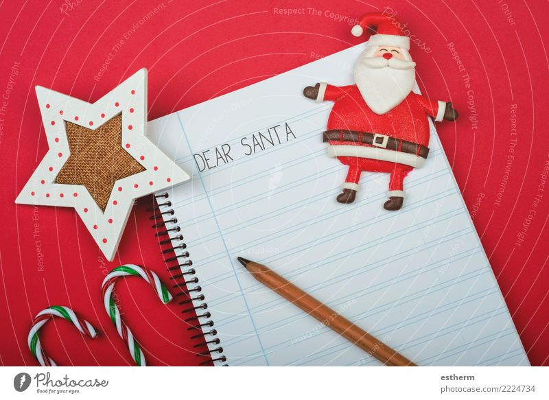 Dear Santa, Letter to santa claus Lifestyle Joy Happy Entertainment Party Event Feasts & Celebrations Stationery Paper Piece of paper Pen Think To enjoy