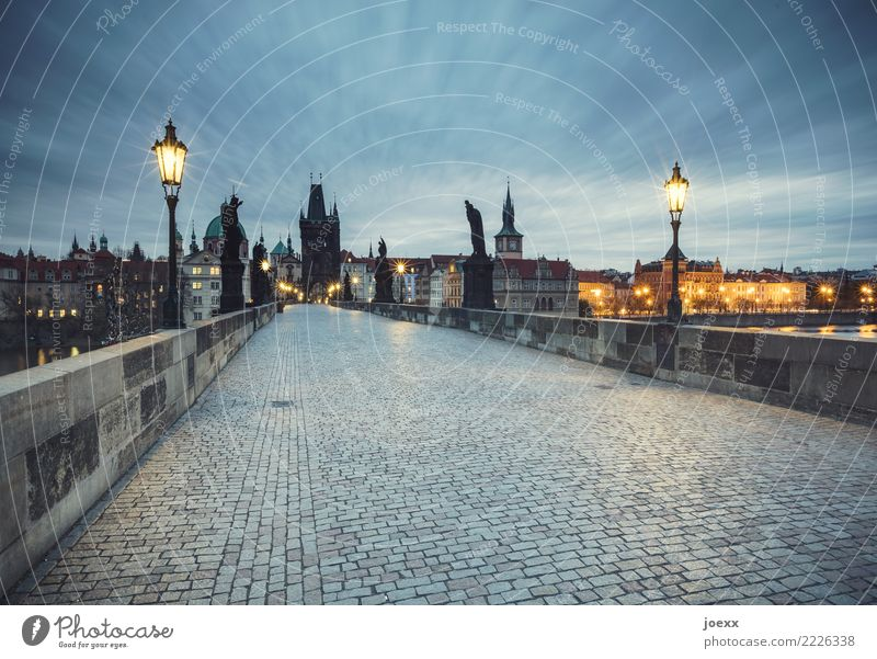 Charles Bridge Prague Czech Republic Capital city Old town Skyline House (Residential Structure) Manmade structures Tourist Attraction Lanes & trails Historic
