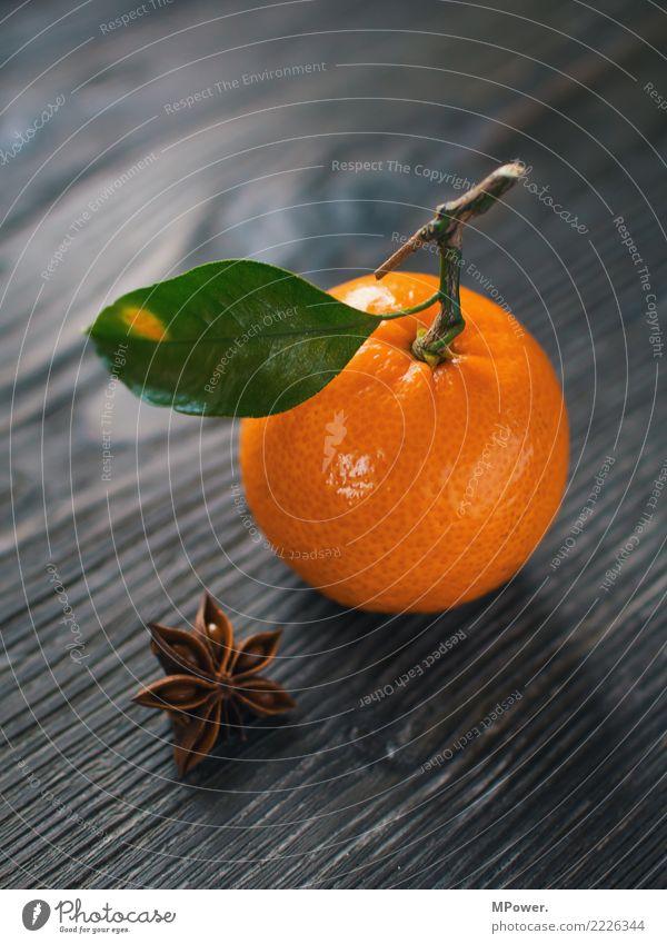 mandarin Food Tangerine Fruit Orange Leaf Vitamin Healthy Eating Delicious Organic produce Colour photo Studio shot Deserted Shallow depth of field
