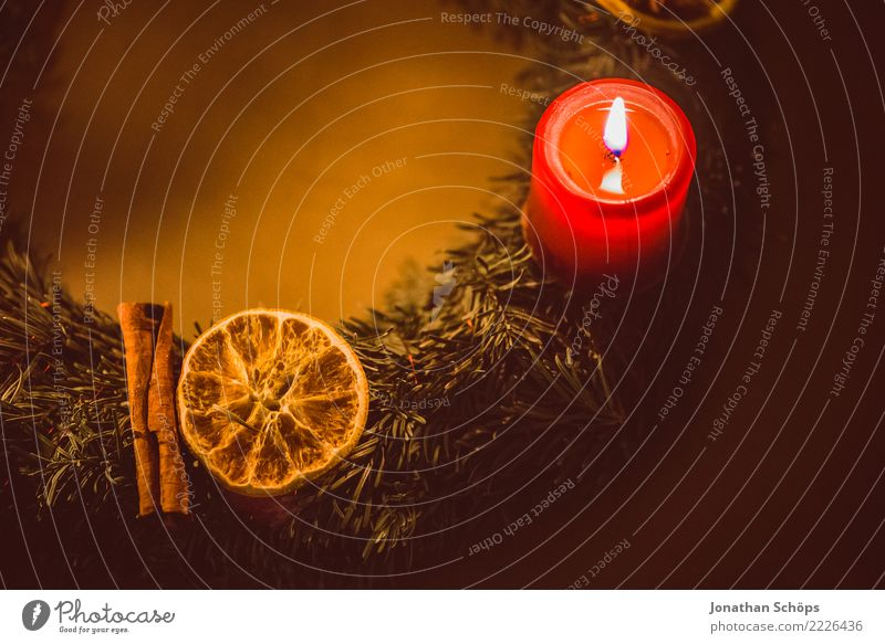 Advent wreath II Well-being Meditation Living or residing Decoration Christmas & Advent Warmth Candle Illuminate Bright Red Moody Hope Tradition