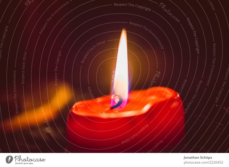 Christmas & Advent Red Warmth Lighting Moody Copy Space Bright Living or residing Illuminate Decoration Hope Candle Well-being Meditation Tradition Burn