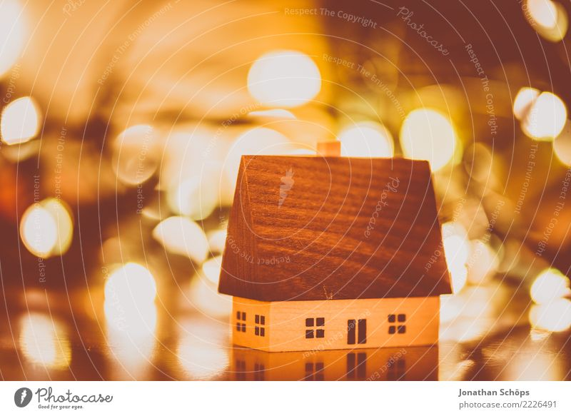 Christmas Decoration with Bokeh IV House (Residential Structure) Christmas & Advent Warmth Bright Moody Hope Tradition Erz Mountains Erzgebirgskunst