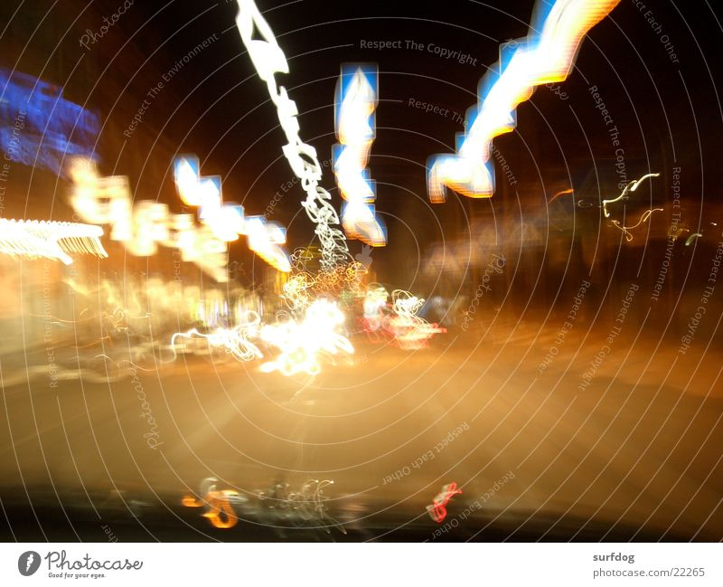 almost forward Zebra crossing Light Long exposure Stripe Night shot Speed Transport Street Movement Blur