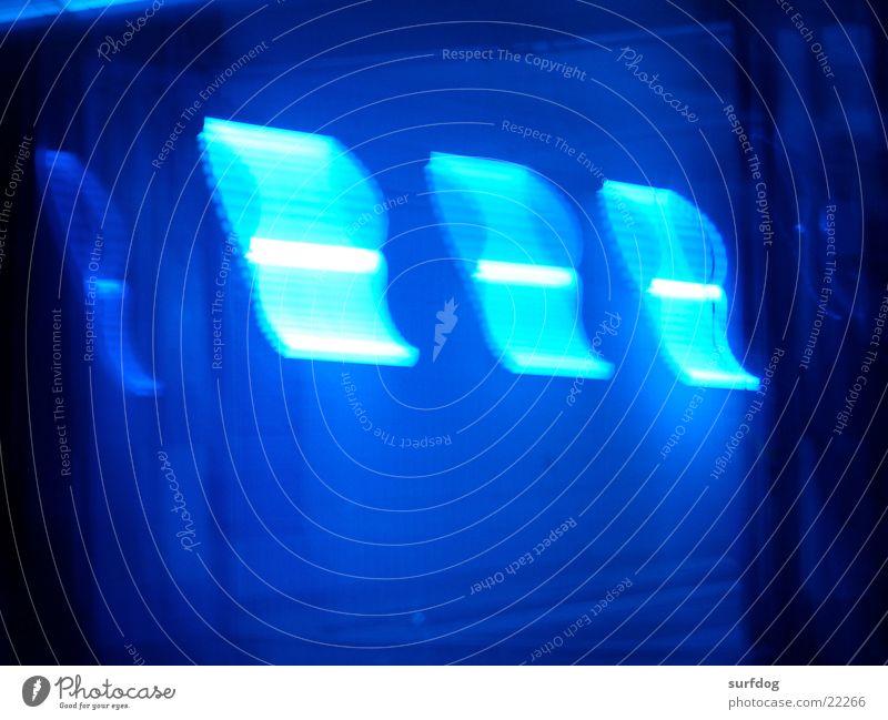 Blue Obscure Neon light Petrol station