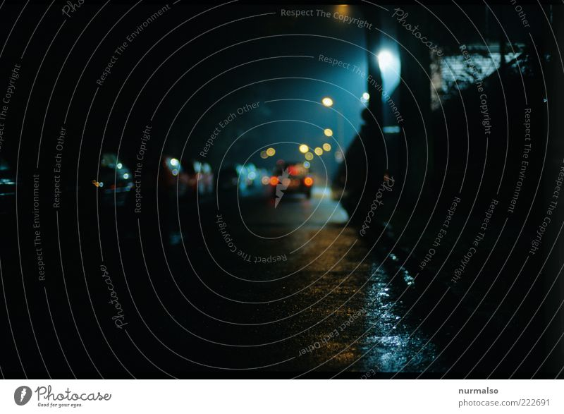 Loneliness Street Dark Cold Lanes & trails Car Rain Moody Environment Going Glittering Wet Transport Places Driving Gloomy