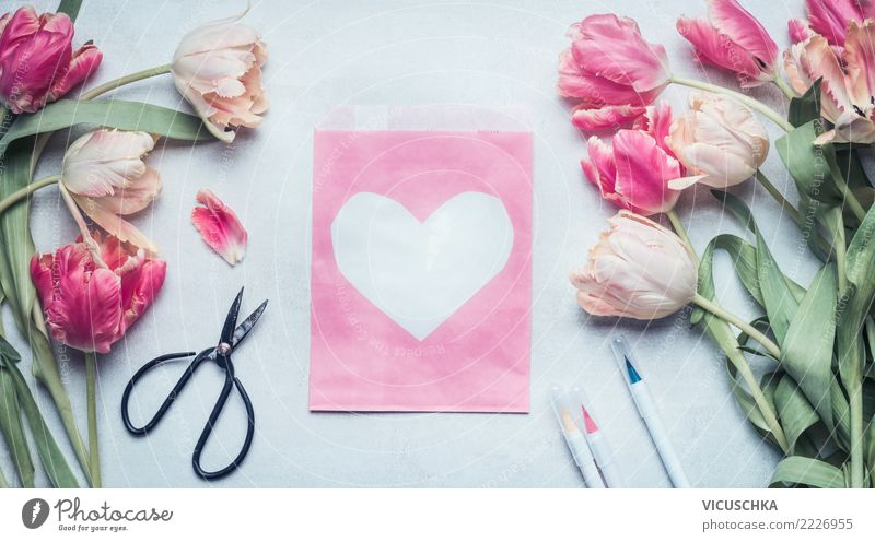 Plant Flower Joy Blossom Background picture Love Spring Emotions Style Feasts & Celebrations Pink Moody Design Decoration Birthday Heart
