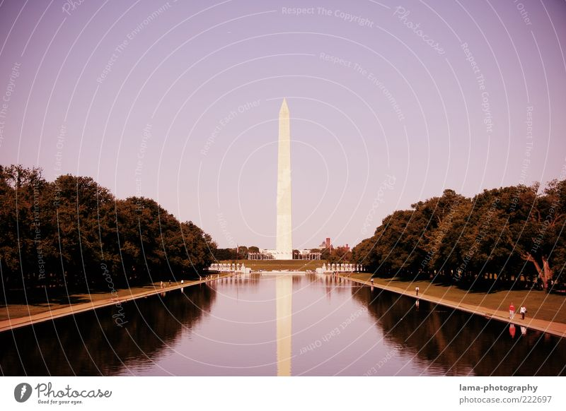 In memoriam... Park Pond Washington Washington DC USA Americas Capital city Manmade structures Architecture Obelisk Tourist Attraction Landmark Monument
