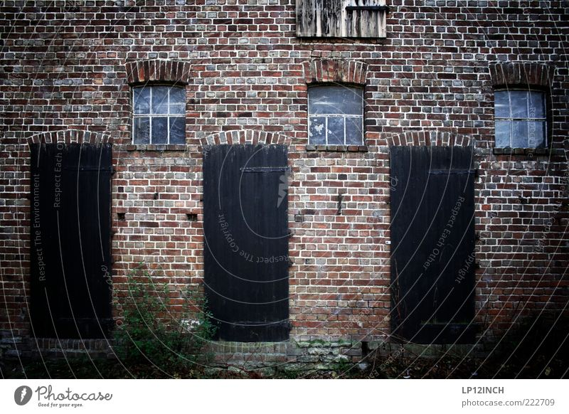 Old Loneliness House (Residential Structure) Cold Window Wall (building) Architecture Wood Stone Wall (barrier) Building Door 3 Factory Brick Farm