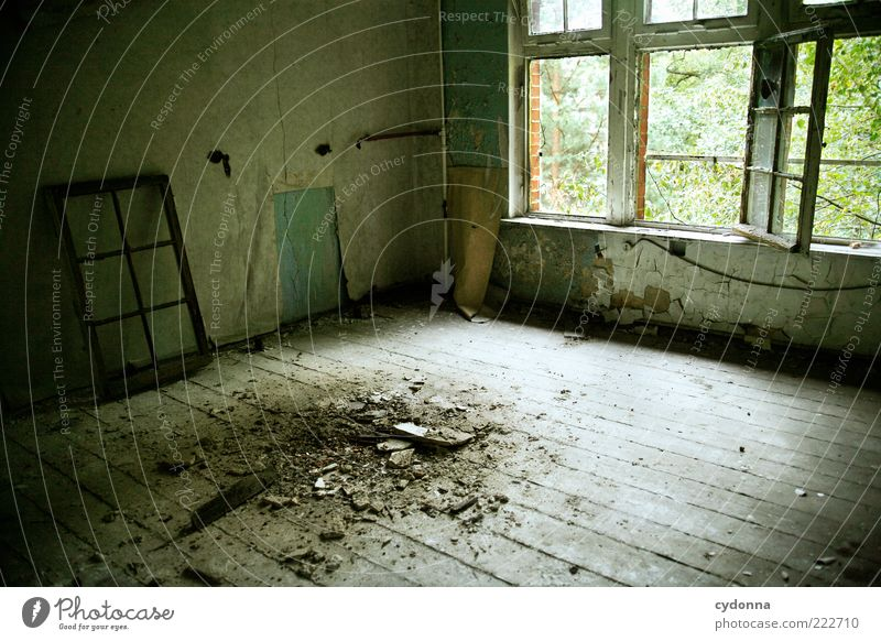 stain Wallpaper Room Ruin Wall (barrier) Wall (building) Window Esthetic Loneliness Apocalyptic sentiment Mysterious Nostalgia Calm Stagnating Decline Past