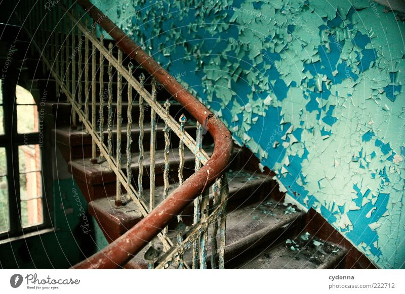Beautiful Calm Loneliness Colour Wall (building) Window Wall (barrier) Dirty Time Empty Stairs Change Transience Uniqueness Mysterious Derelict