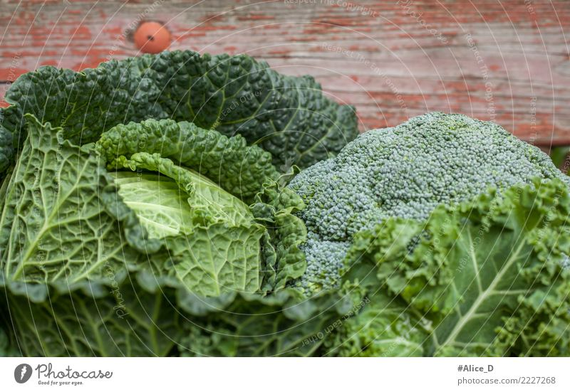 Healthy green stuff Food Vegetable Savoy cabbage Cabbage Kale leaf Broccoli Nutrition Organic produce Vegetarian diet Diet Fresh Delicious Natural Green Life