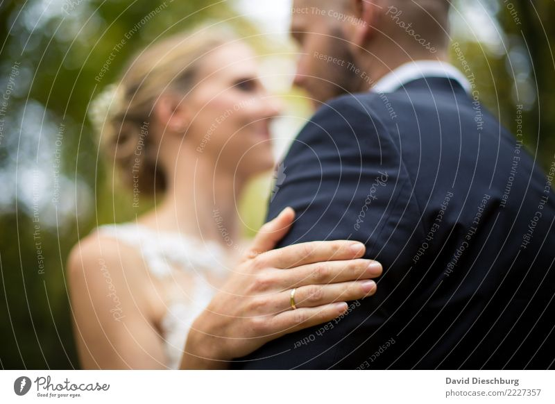 Human being Nature Hand Forest Love Feminine Happy Couple Head Together Masculine Body Arm Romance Wedding Safety