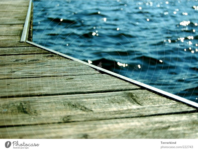 109daysago Ocean Lake Alster Footbridge Wood Sun Chopping board Jetty Reflection Surface of water Water reflection Waves Copy Space bottom