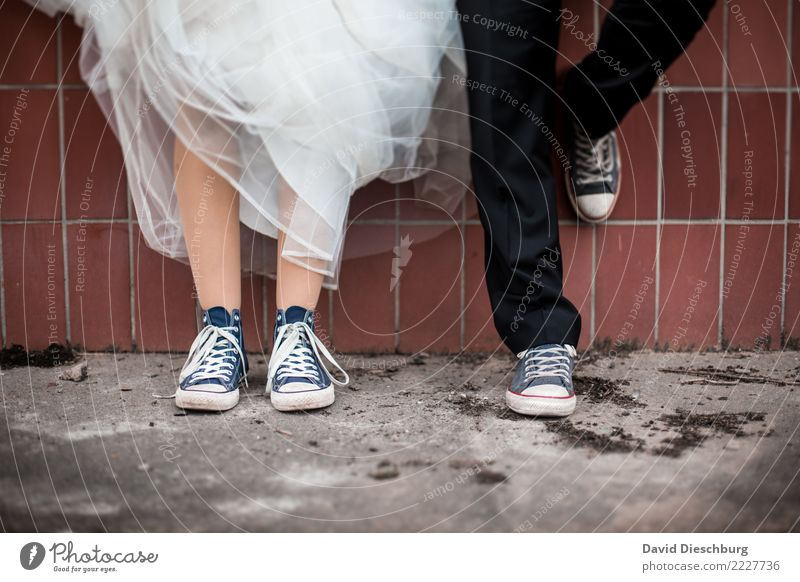 Woman Human being Man Adults Legs Love Feminine Happy Couple Together Masculine Footwear Stand Wait Wedding Dress