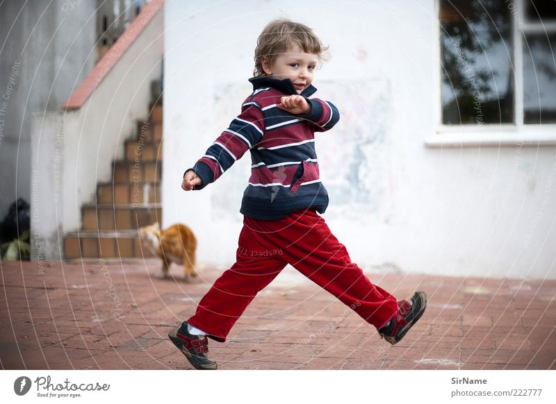 Human being Child Joy Life Playing Movement Boy (child) Funny Happy Fashion Infancy Dance Walking Authentic Free Happiness
