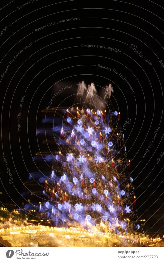 Christmas & Advent Vacation & Travel Lighting Christmas tree Ornament Christmas Fair Experimental Night Long exposure