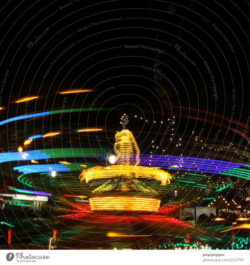 Joy Movement Feasts & Celebrations Speed Fairs & Carnivals Rotate Shadow Long exposure Motion blur Carousel