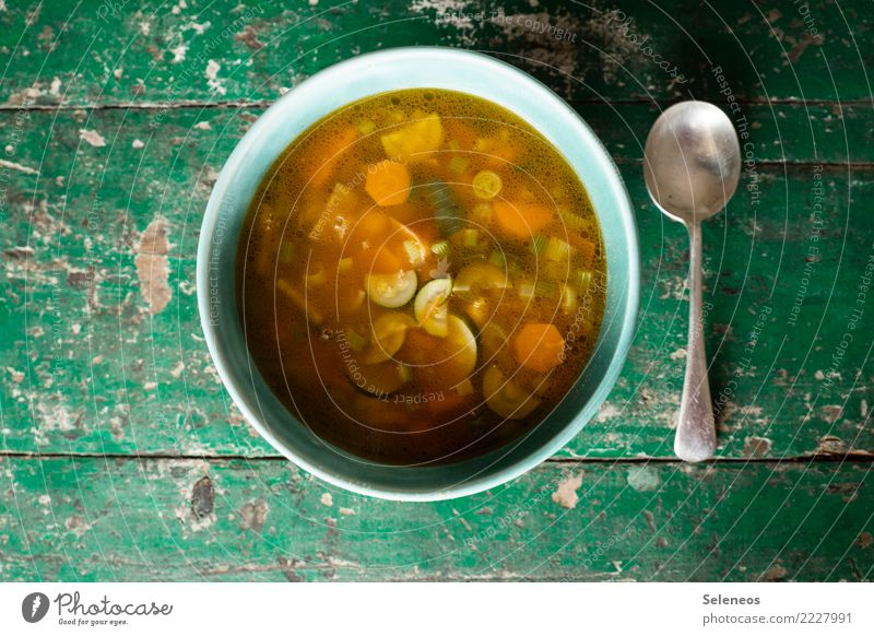 soup clown Food Vegetable Greens minestrone Zucchini Carrot Nutrition Eating Lunch Dinner Organic produce Vegetarian diet Diet Vegan diet Plate Bowl Spoon Fresh