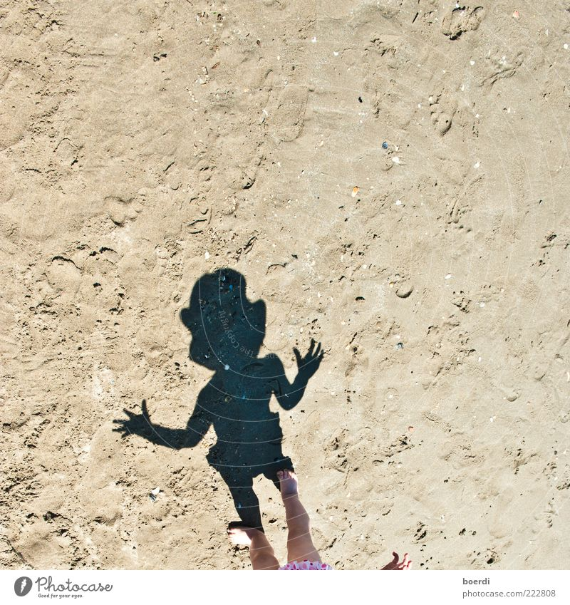 Human being Child Summer Vacation & Travel Beach Life Playing Sand Legs Infancy Brown Going Stand Cute Hot Toddler