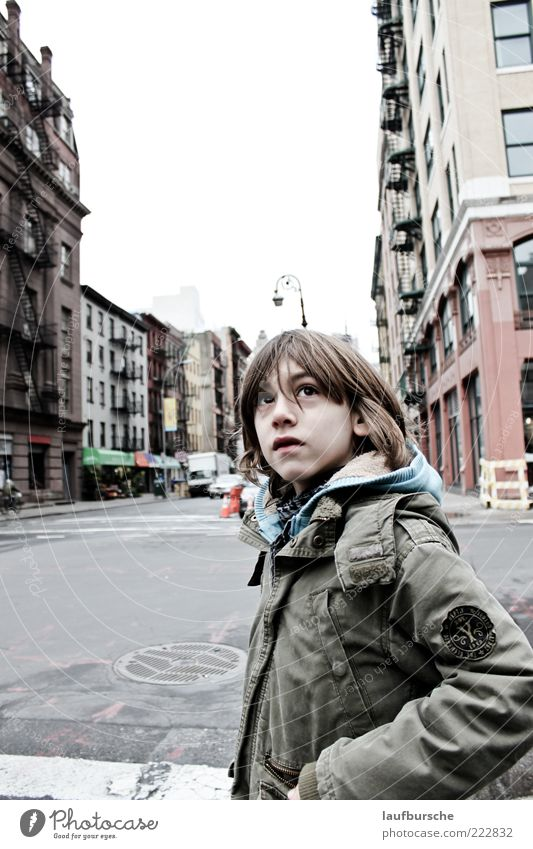 Human being Child City Green Beautiful Red Vacation & Travel House (Residential Structure) Street Boy (child) Gray Dream Building Think Masculine