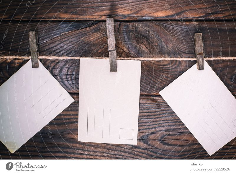 three empty old postcards - a Royalty Free Stock Photo from