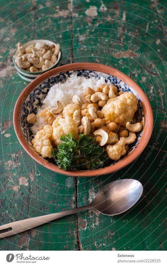 Lunch! Food Vegetable Cauliflower cashew kernels Nut Kernels & Pits & Stones Rice Parsley Nutrition Eating Organic produce Vegetarian diet Diet Vegan diet