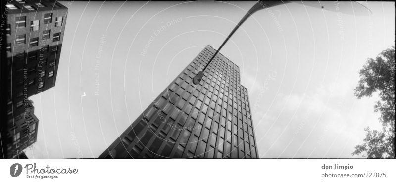 White Black Above Building Architecture Facade High-rise Large Hamburg Tall Modern New Future Analog Skyline Street lighting