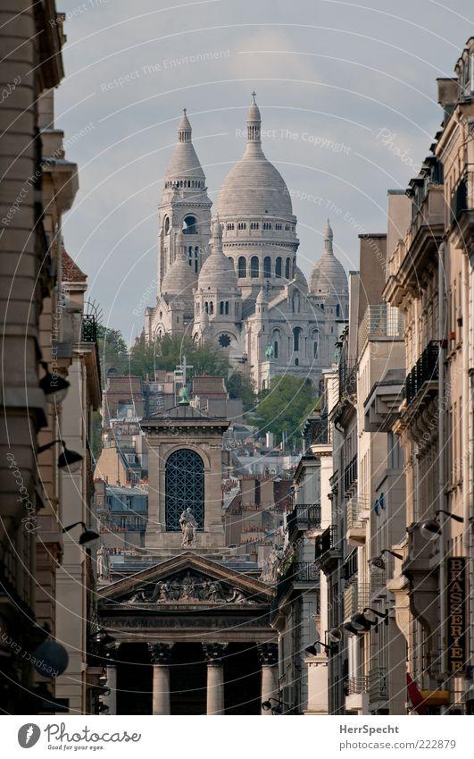 Sacré-Cœur de Montmartre Paris Capital city Old town Building Architecture Tourist Attraction Landmark Sacré-Coeur Brown Gray Sublime Vista Perspective