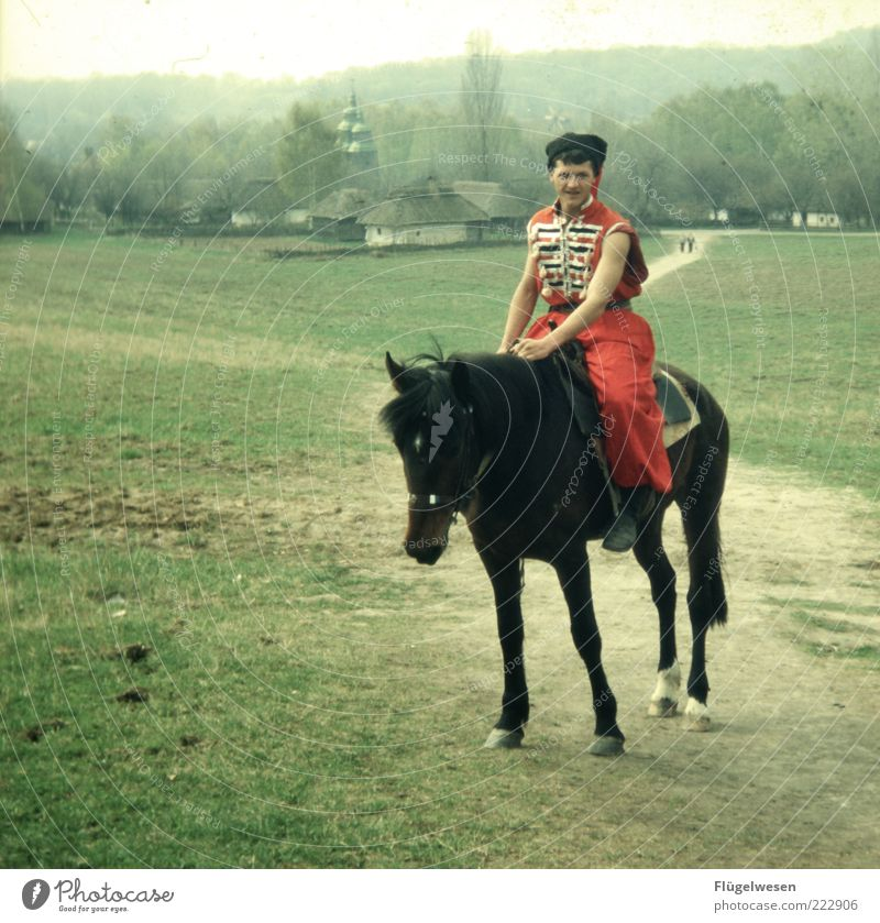 Human being Sports Meadow Dream Horizon Trip Lifestyle Horse Masculine Hope Gloomy Church Living or residing Hunting Russia Fight
