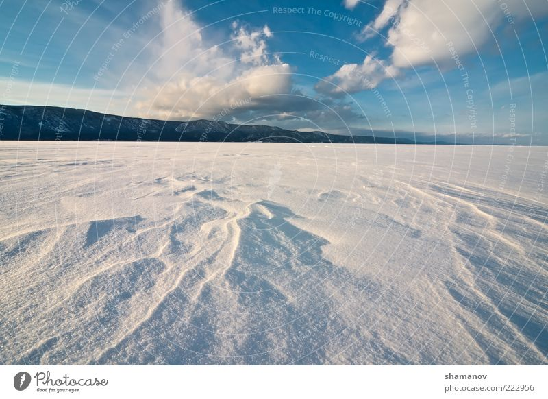 Lake Baikal, winter Nature Sky Blue Winter Clouds Snow Mountain Landscape Ice Coast Frost