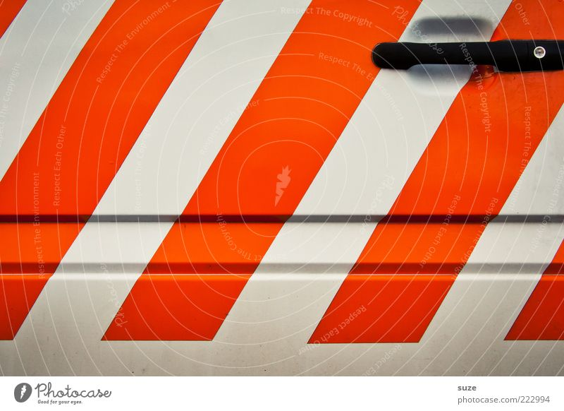 White Car Metal Line Orange Design Modern New Car door Stripe Simple Clean Sign Diagonal Door handle