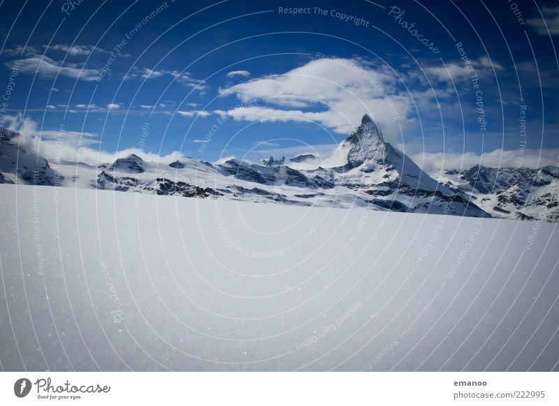 Sky Nature Water Blue Winter Clouds Far-off places Cold Snow Mountain Landscape Ice Tall Frost Climate Switzerland