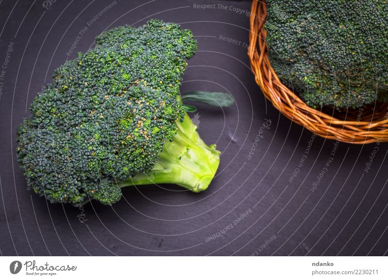 fresh cabbage broccoli Vegetable Nutrition Eating Vegetarian diet Diet Table Nature Plant Wood Fresh Natural Brown Green Black Rustic Ingredients Cooking