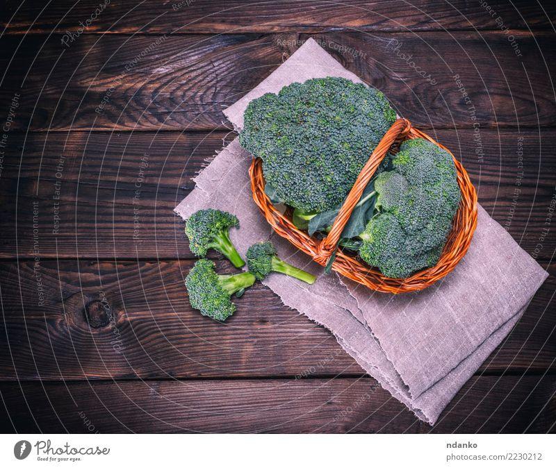 fresh cabbage broccoli Vegetable Nutrition Eating Vegetarian diet Diet Table Wood Fresh Natural Above Brown Green Rustic Ingredients Cooking dieting background