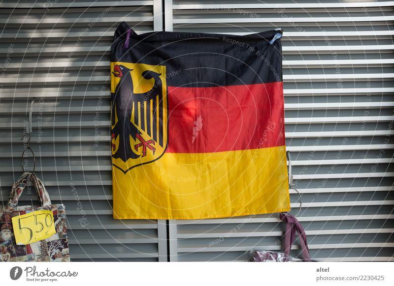 Souvenir, Souvenir Koblenz Germany Tourist Attraction Landmark Decoration Sign Cliche Gold Red Black Arrogant Shopping AfD Characteristic Deutsches Eck Flag