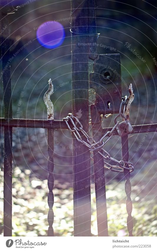 Loneliness Dark Emotions Sadness Metal Door Time Closed End Transience Gate Rust Decline Fence Lock Chain