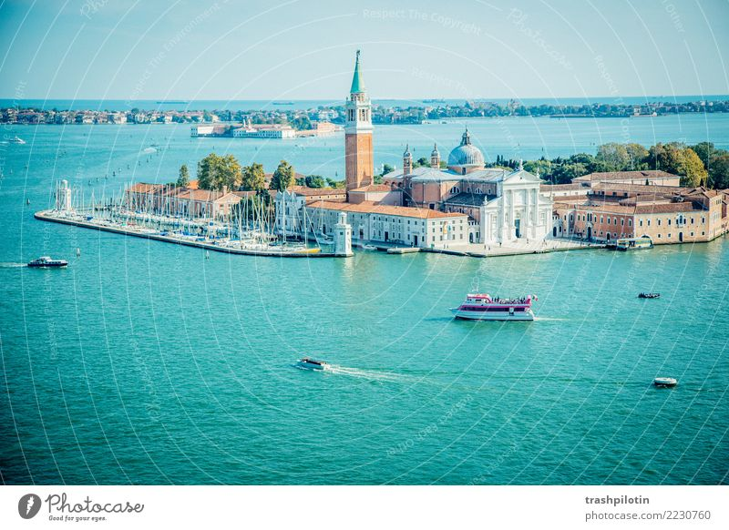 View of Venice Vacation & Travel Tourism Trip Adventure Far-off places Freedom Sightseeing City trip Cruise Ocean Island Waves Landscape Water Beautiful weather