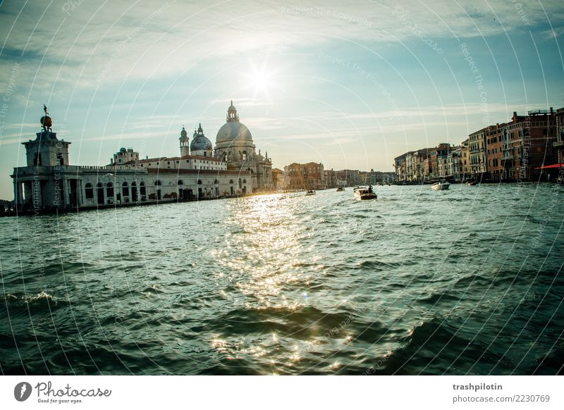 Venice Beautiful weather Italy Europe Town Port City Navigation Vacation & Travel Channel Water Colour photo Exterior shot Twilight