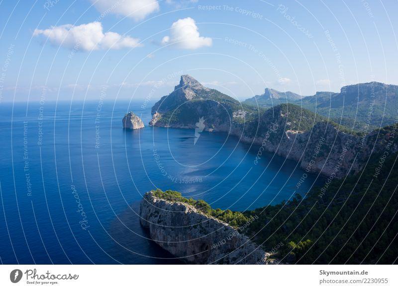 Holiday, Sun, Sea, Mediterranean Sea, Mallorca Environment Nature Landscape Rock Mountain Coast Beach Bay Ocean Majorca Swimming & Bathing Discover Relaxation