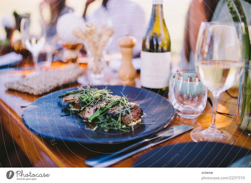 dinner party with wine and tasty food a royalty free stock photo