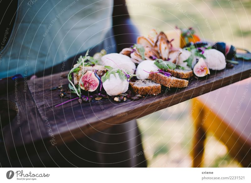 Close-up of delicious cheese platter with bread and fruit Cheese Fruit Bread Diet Restaurant Wood Esthetic Delicious Juicy waiter Fig wine food Delicatessen