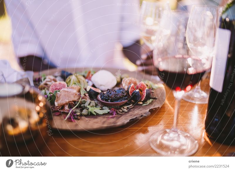 Close-up of colorful dish at restaurant Alcoholic drinks Restaurant Feasts & Celebrations Delicious food Fig wine Wine glass party Social event Colour photo